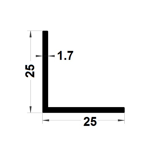 L Profile - 25x25 mm