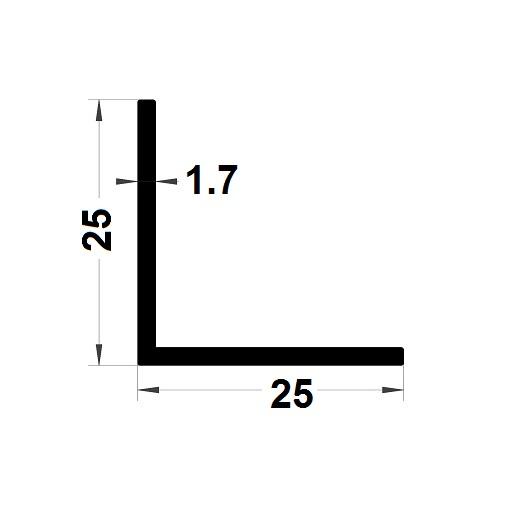 Profilé en L - 25x25 mm