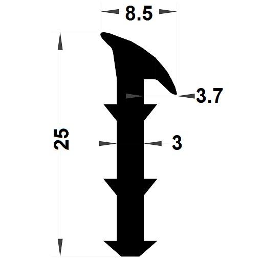 Wedge gasket - 8,50x25 mm