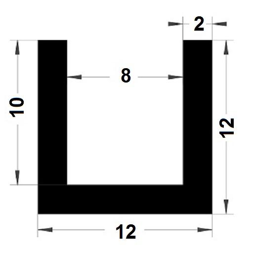U Profile - 12x12mm