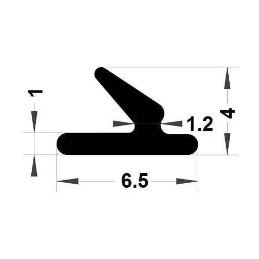 Carpentry gasket - 4x6,50 mm