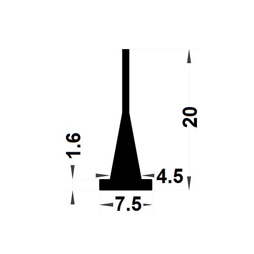Carpentry gasket - 20x7,50 mm