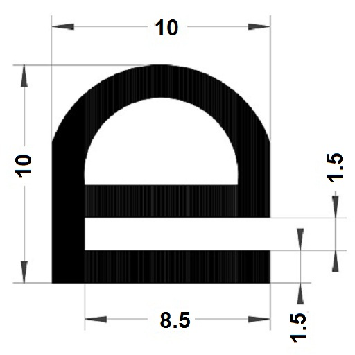 E Profile - 10x10 mm