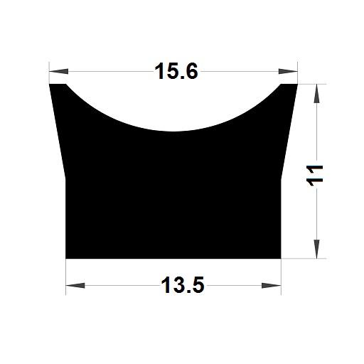 Trapèze - 11x13,5 mm
