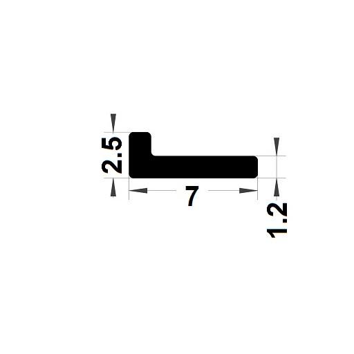 Profilé en L - 2,50x7 mm