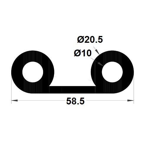 P Profile - 20,50x58,50 mm