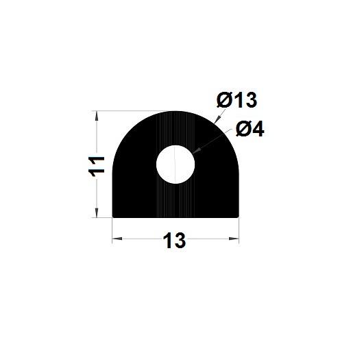 Profilé antichoc - 11x13 mm