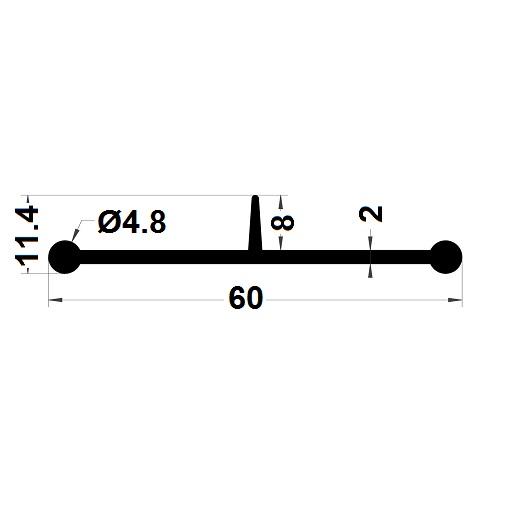 Carpentry gasket - 11,40x60 mm