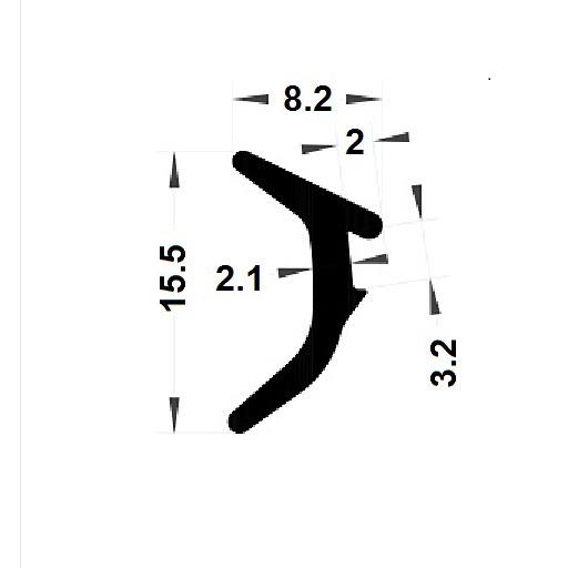Wedge gasket - 8,20x15,50 mm