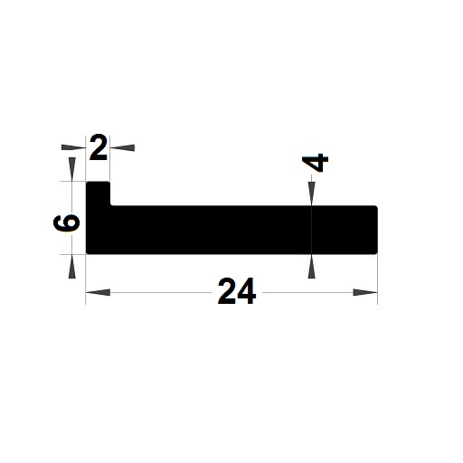 L Profile - 24x6 mm