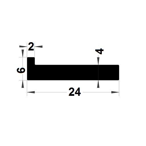 Profilé en L - 24x6 mm