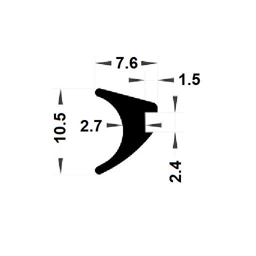 Wedge gasket - 7,60x10,50 mm