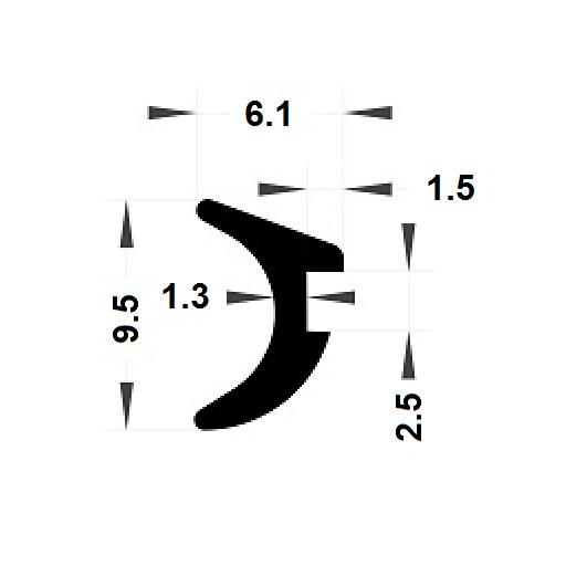 Joint de bourrage - 6,10x9,50 mm