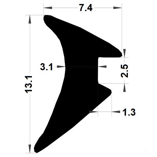 Wedge gasket - 7,40x13,10 mm