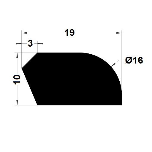 Trapèze - 10x19 mm