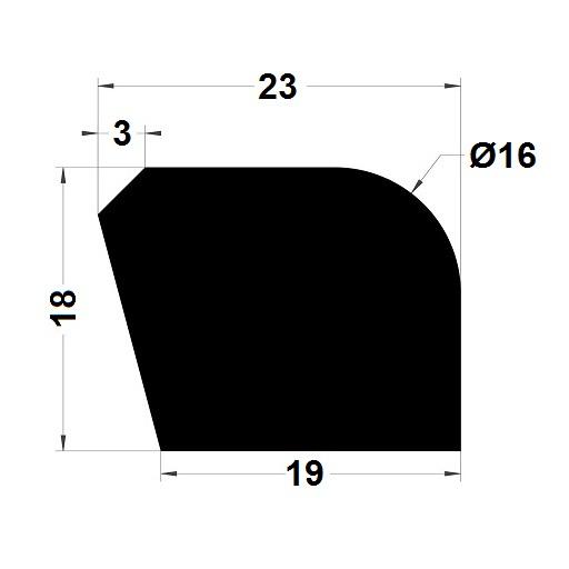 Trapèze - 18x19 mm