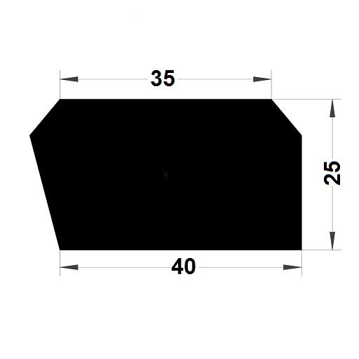 Trapèze - 25x40 mm