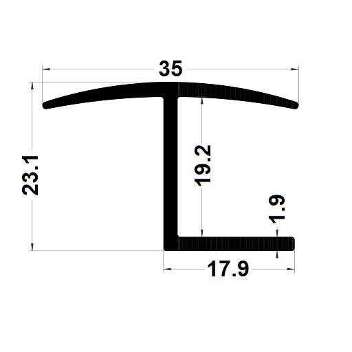 H profile - 23,10x35 mm