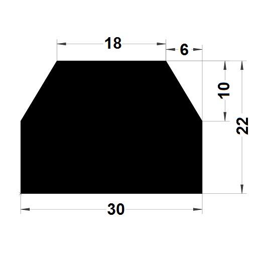 Trapèze - 22x30 mm