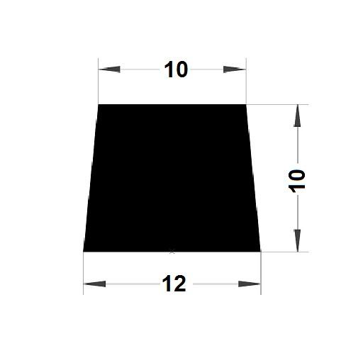 Trapèze - 10x12 mm