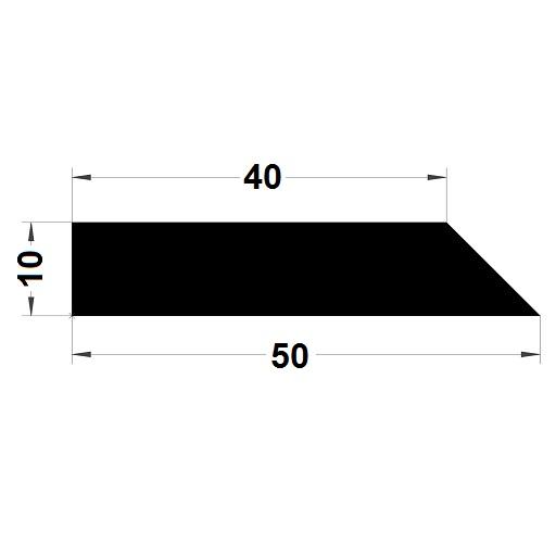 Trapèze - 10x50 mm