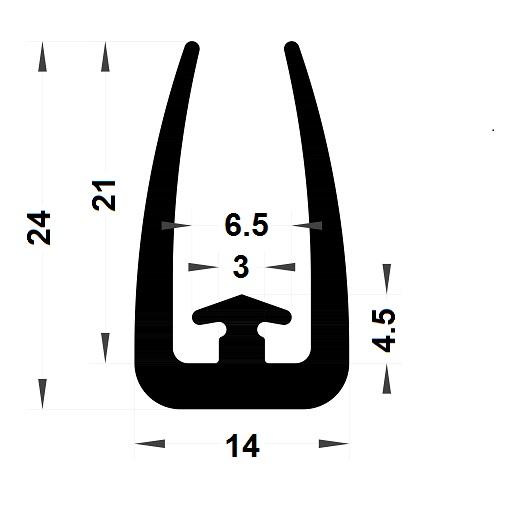 Veranda & conservatory gasket - 24x14 mm