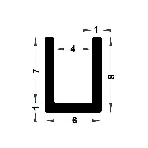 U Profile - 8x6 mm