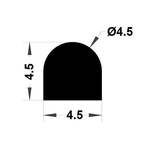 Joint de cuve - 4,50x4,50 mm