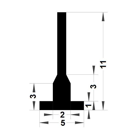 Carpentry gasket - 11x5 mm