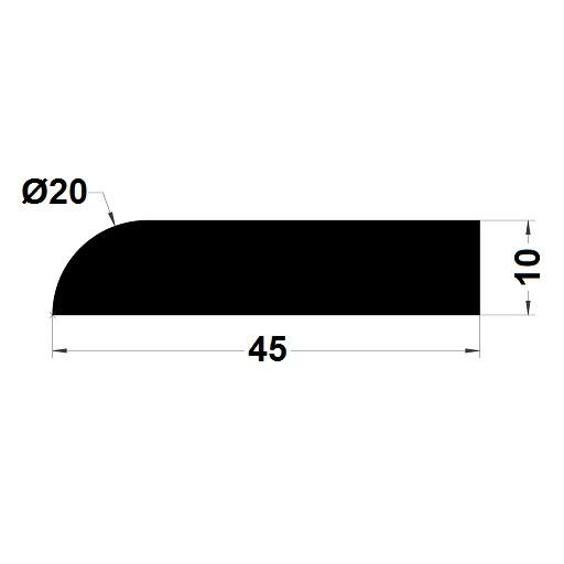 Trapèze - 10x45 mm