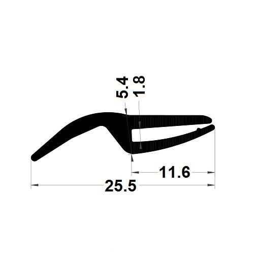 H profile - 5,40x25,50 mm