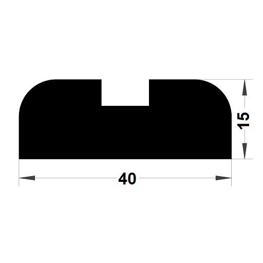 Trapèze - 15x40 mm