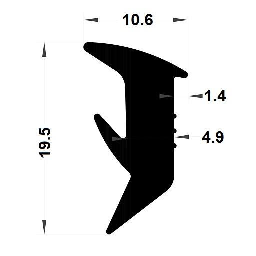Wedge gasket - 10,60x19,50 mm