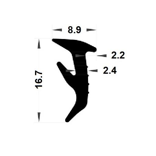 Wedge gasket - 8,90x16,70 mm