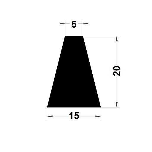 Trapèze - 20x15 mm