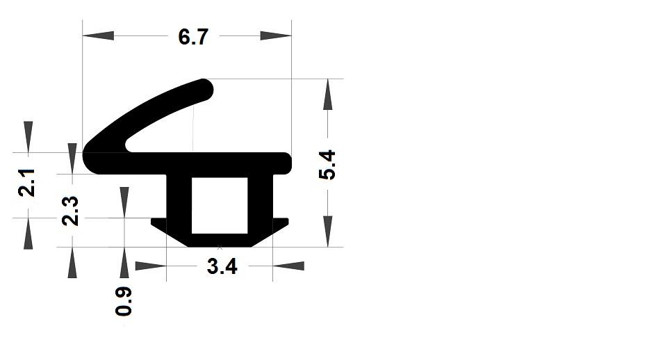 Carpentry gasket - 5,40x6,70 mm
