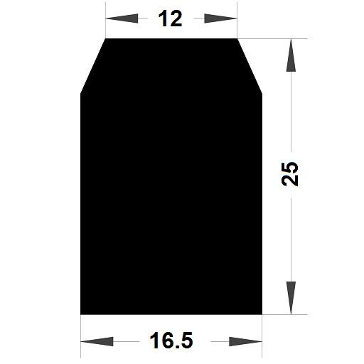 Trapèze - 25x16,5 mm