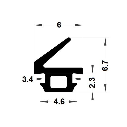 Carpentry gasket - 6,70x6 mm