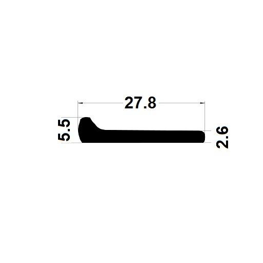 Note de musique - 5,50x27,80 mm