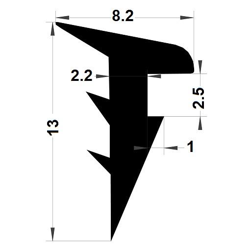Wedge gasket - 6,50x10,10 mm