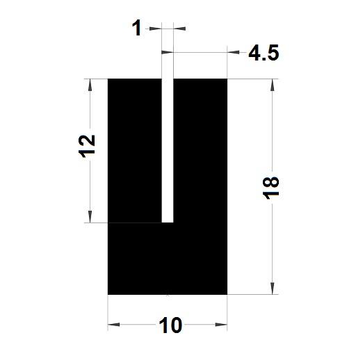 Profilé en U - 10x18 mm