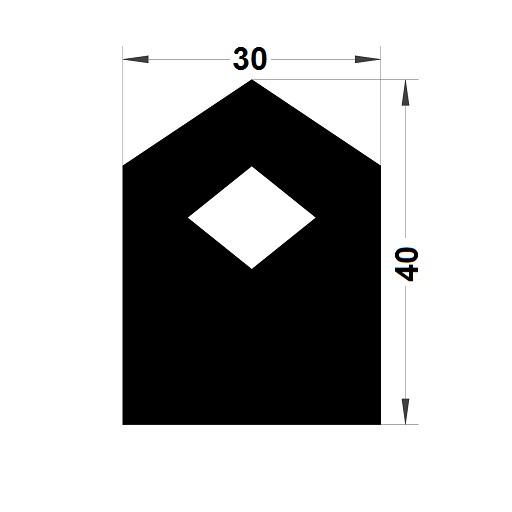Trapèze - 40x30 mm