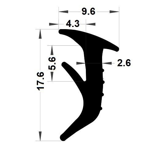 Wedge gasket - 9,60x17,60 mm