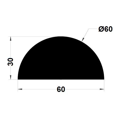 Profilé antichoc - 30x60 mm