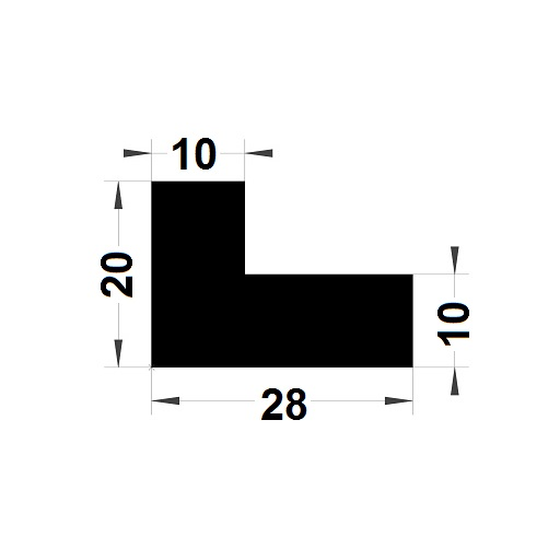Profilé en L - 20x28 mm