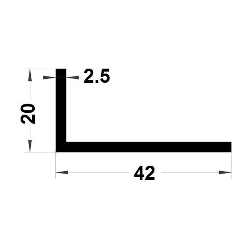 Profilé en L - 20x42 mm