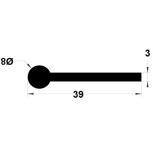 Note de musique - 8x39 mm