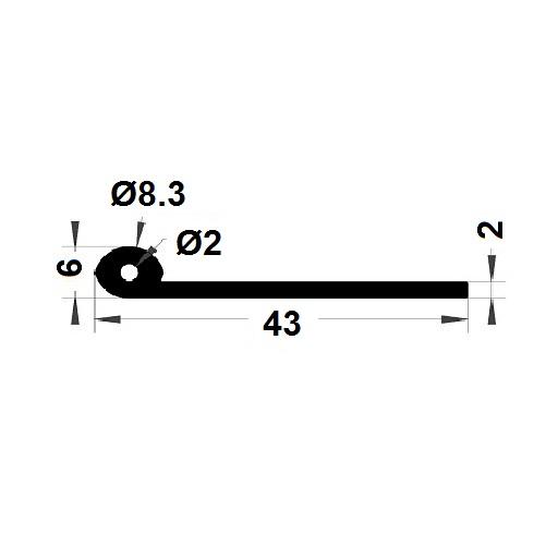 Note de musique - 8,30x43 mm