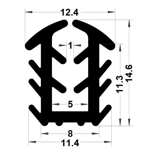 Glazing seal - 14,60x12,40 mm