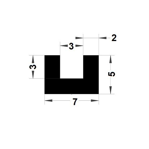U Profile - 5x7 mm